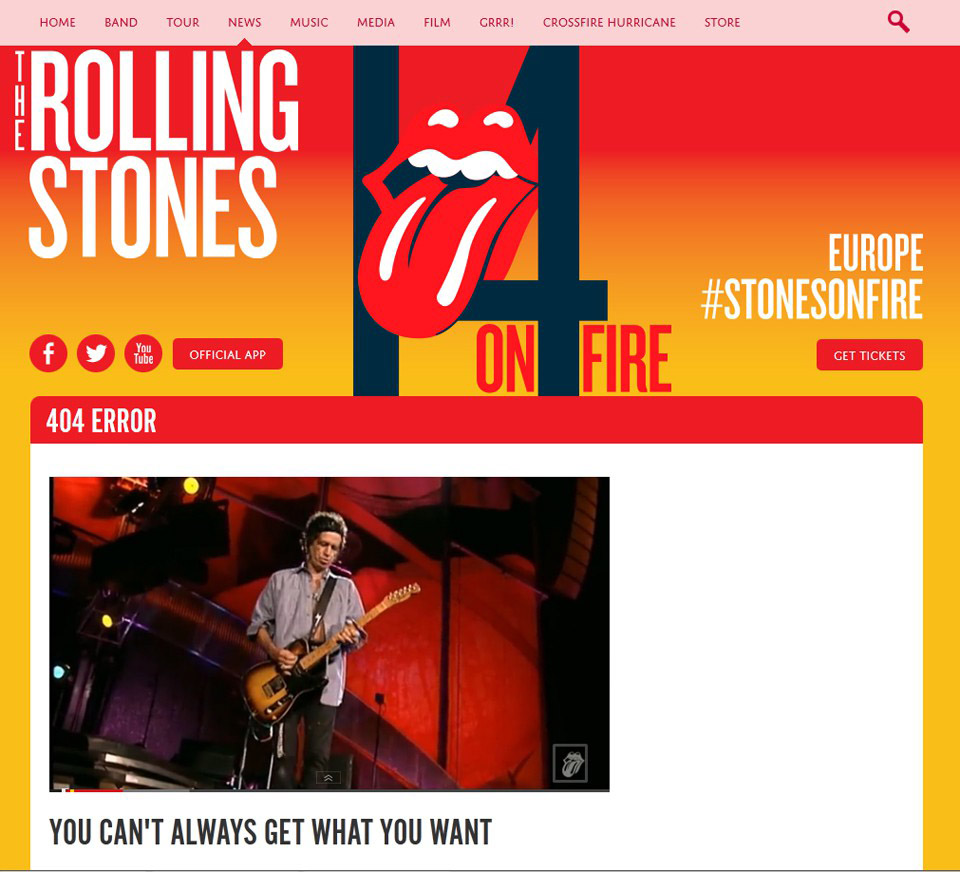 rolling stones error 404