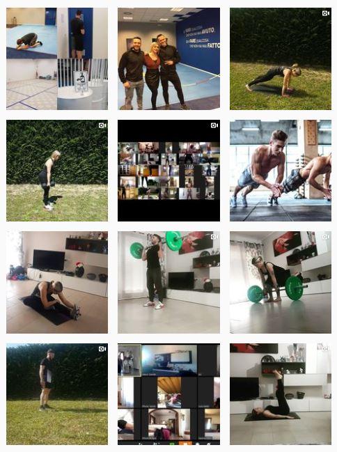 body factory palestre chiuse causa covid come reinventarsi immagini dal feed di Instagram esercizi e allenamenti online