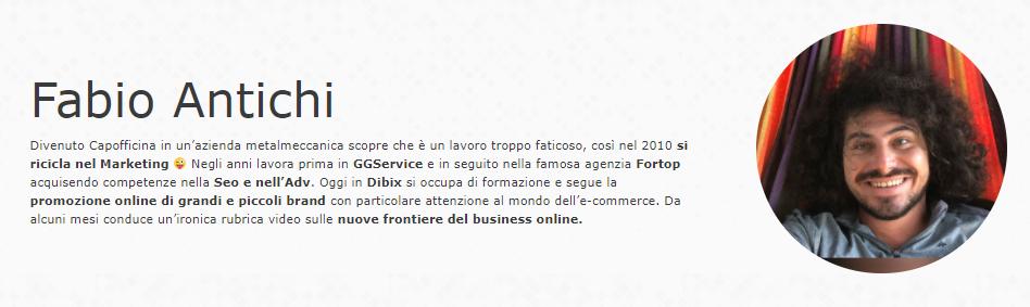 Fabio Antichi New Marketing chi è testo di presentazione