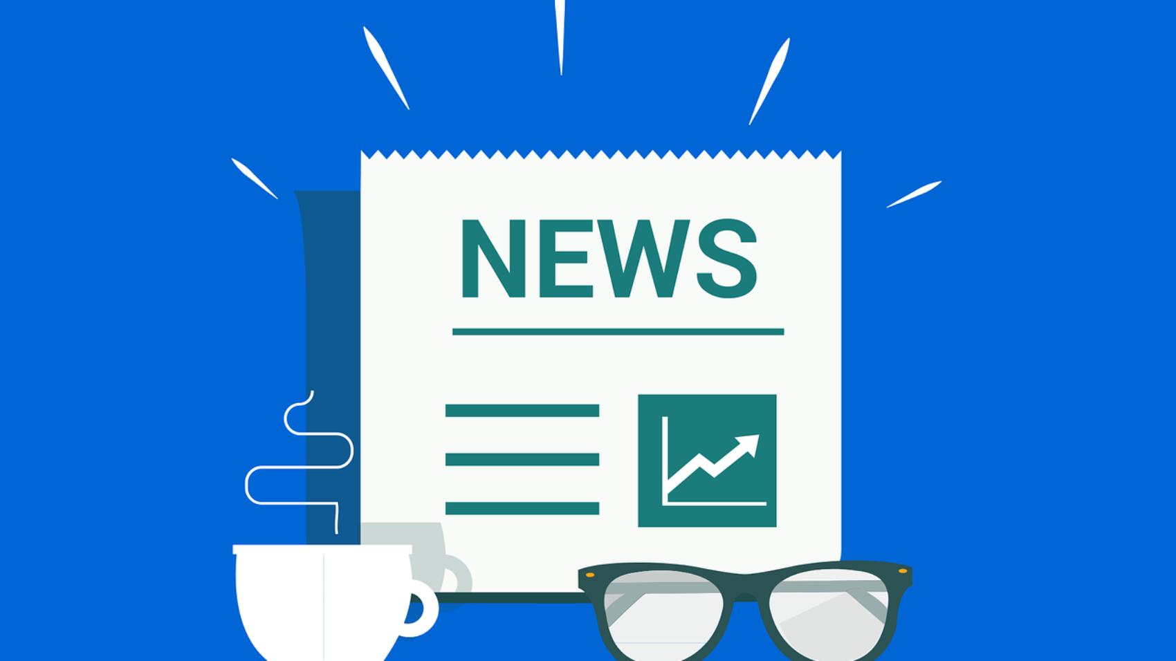 News giornale caffè occhiali