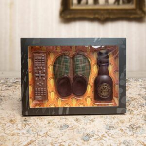 set per pantofolai in cioccolato