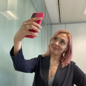Fabia Manager selfie